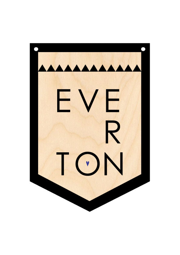 EVERTON Wooden Hanging Banner BY WOTMALIKE