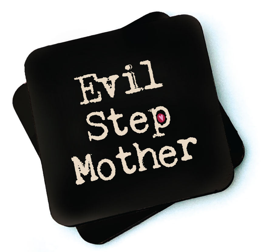 Evil Step Mother -  Dark Collection Wooden Coaster  by Wotmalke