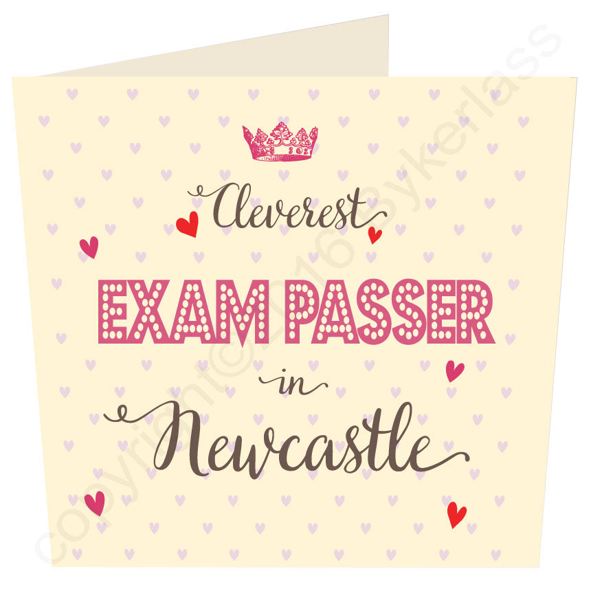 Cleverest Exam Passer in...... Personalised Card by Wotmalike