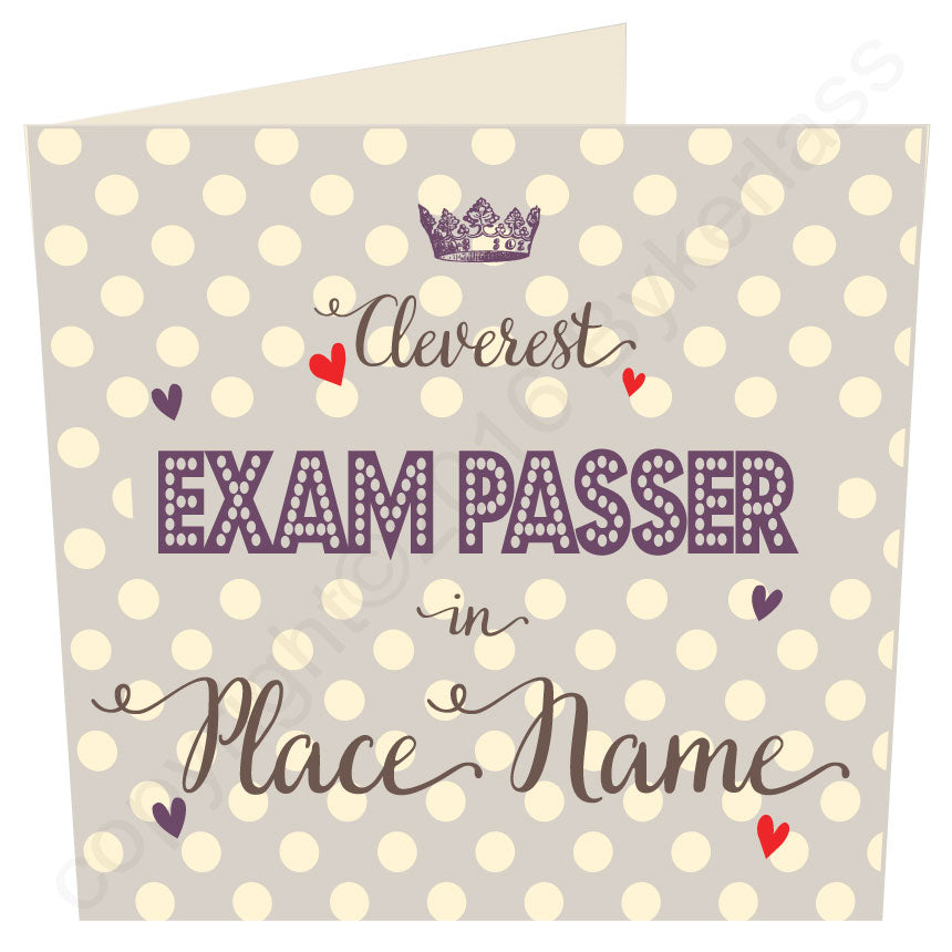 Cleverest Exam Passer in...... Personalised Taupe Card by Wotmalike