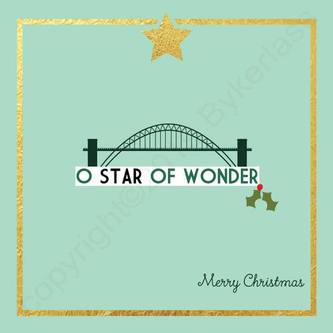 Tyne Bridge O Star of Wonder Mint Christmas Card --- FX111