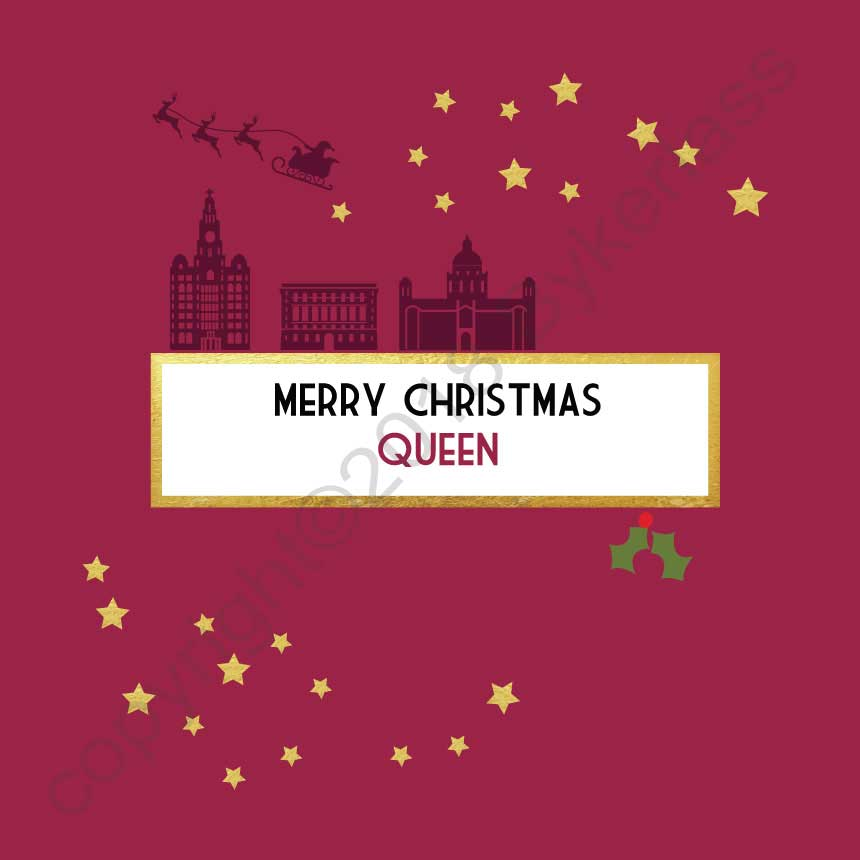 Merry Christmas Queen Christmas Scouse Card by Wotmalike