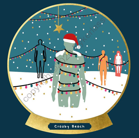 Crosby Snow Globe Christmas Card --- FX140