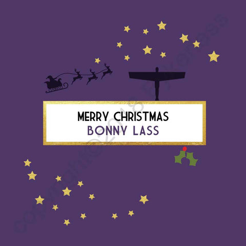 Merry Christmas Bonny Lass Christmas Card --- FX40