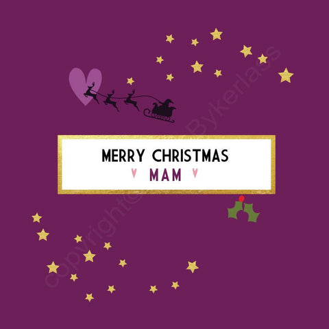 Merry Christmas Mam Plum Christmas Card --- FX72