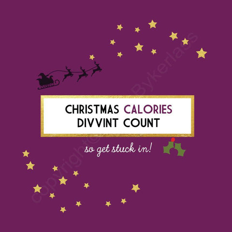 Christmas Calories Divvint Count Plum Christmas Card --- FX73