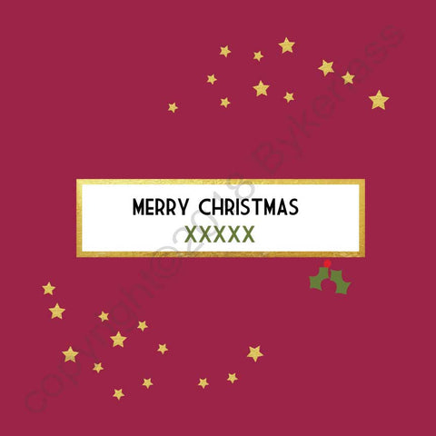 Merry Christmas XXXXXX Bespoke Foiled Christmas Cards  --- Berry FX96