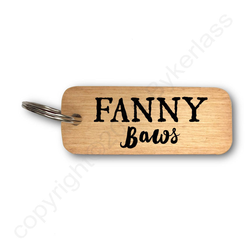 Fanny Baws -  Scottish Rustic Wooden Keyring