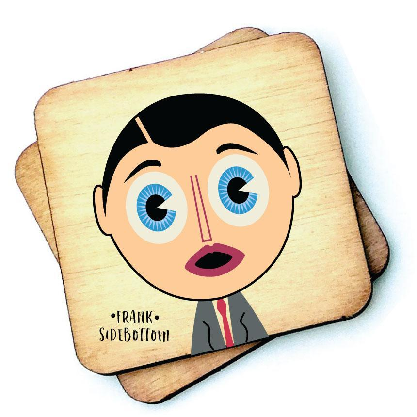 Frank Sidebottom - Character Wooden Coaster by Wotmalike