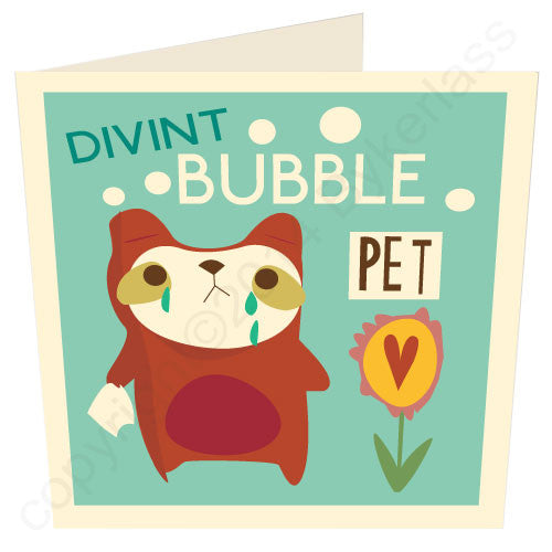 Divint Bubble Pet Geordie Card