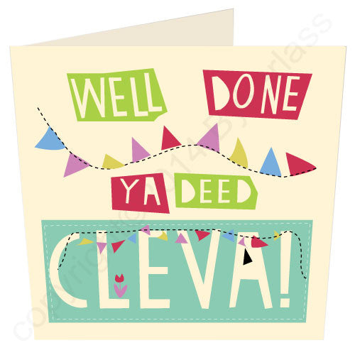 Well Done Ya Deed Clever - congratulations geordie cards