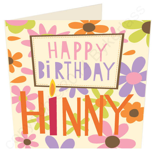 Happy Birthday Hinny Geordie Card - great cards4Geordies and the North East