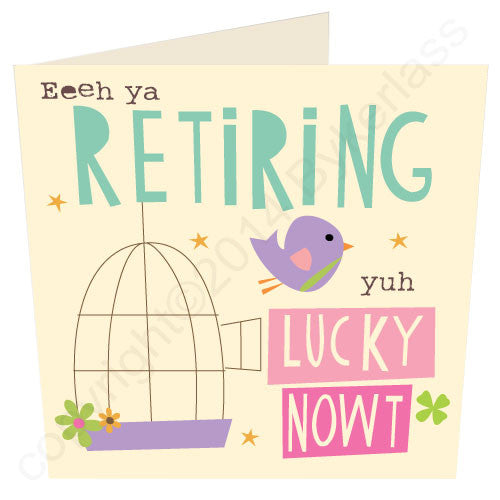 Retiring yuh Lucky Nowt Geordie Mugs Retirement Card