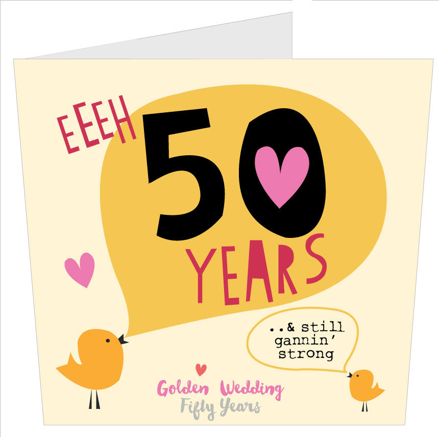 NEW! Golden Wedding Geordie Card