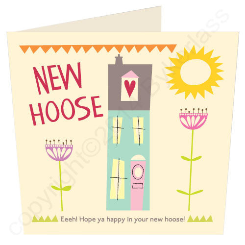 Geordie new house card handmade in Newcastle Upon Tyne