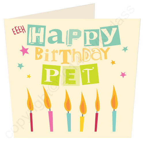 Happy Birthday Pet - Geordie Birthday Card