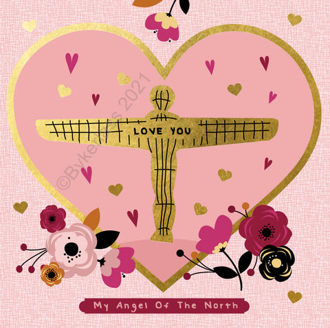 My Angel Of The North Beautiful Foil Mothers Day Card - (GF3)
