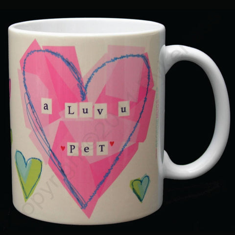 A Luv U Pet Mug Heart Geordie Mug (GM6)