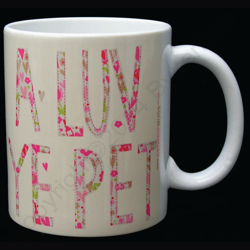 A Luv U Pet Mug Floral Geordie  Mug (GM7)