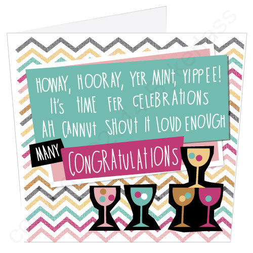 Congratulations Geordie Poetry Card by Bykerlass and Matt Reilly from Geordie Mugs Geordie Cards and Geordie Gifts