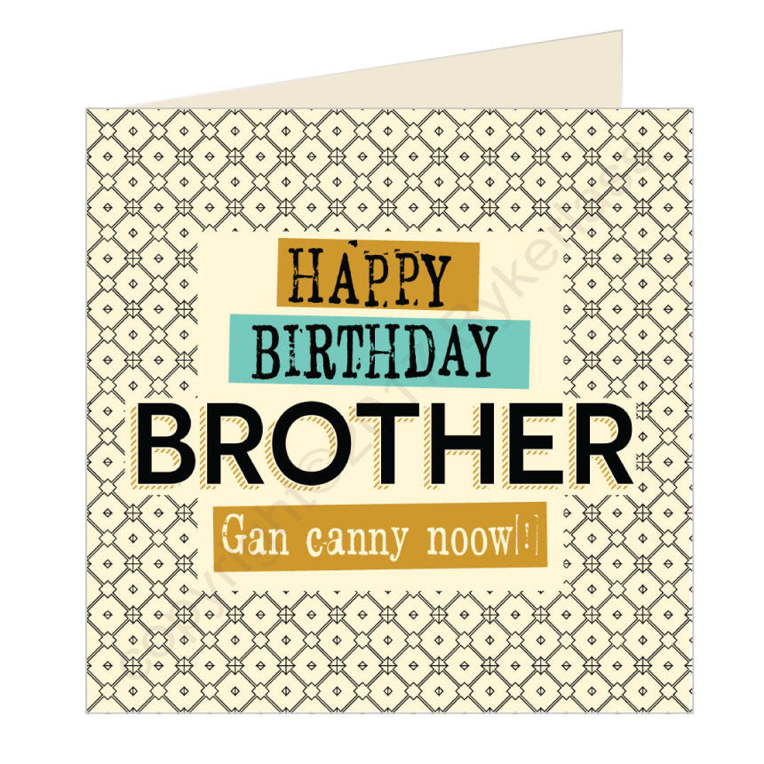 Happy Birthday Brother Geordie Card by Wotmalike