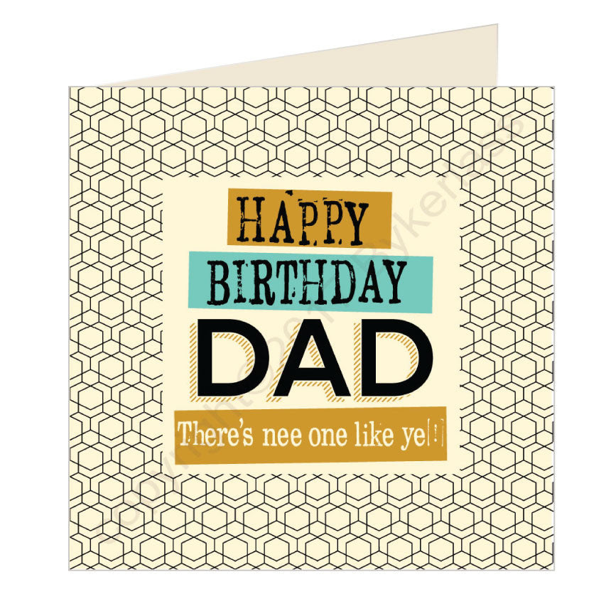 Happy Birthday Dad Geordie Card by Wotmalike