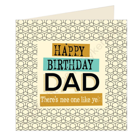 Happy Birthday Dad Geordie Card (GQ12)