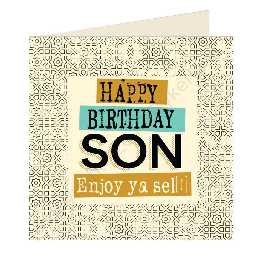 Happy Birthday Son Geordie Card by Wotmalike