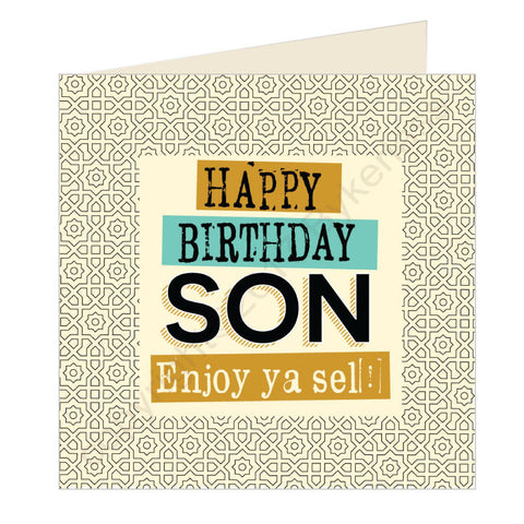 Happy Birthday Son Geordie Card (GQ20)