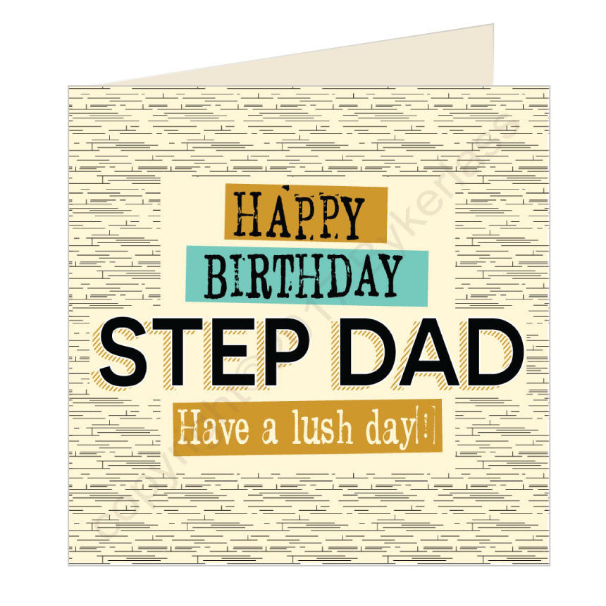Happy Birthday Step Dad Geordie Card (GQ21)