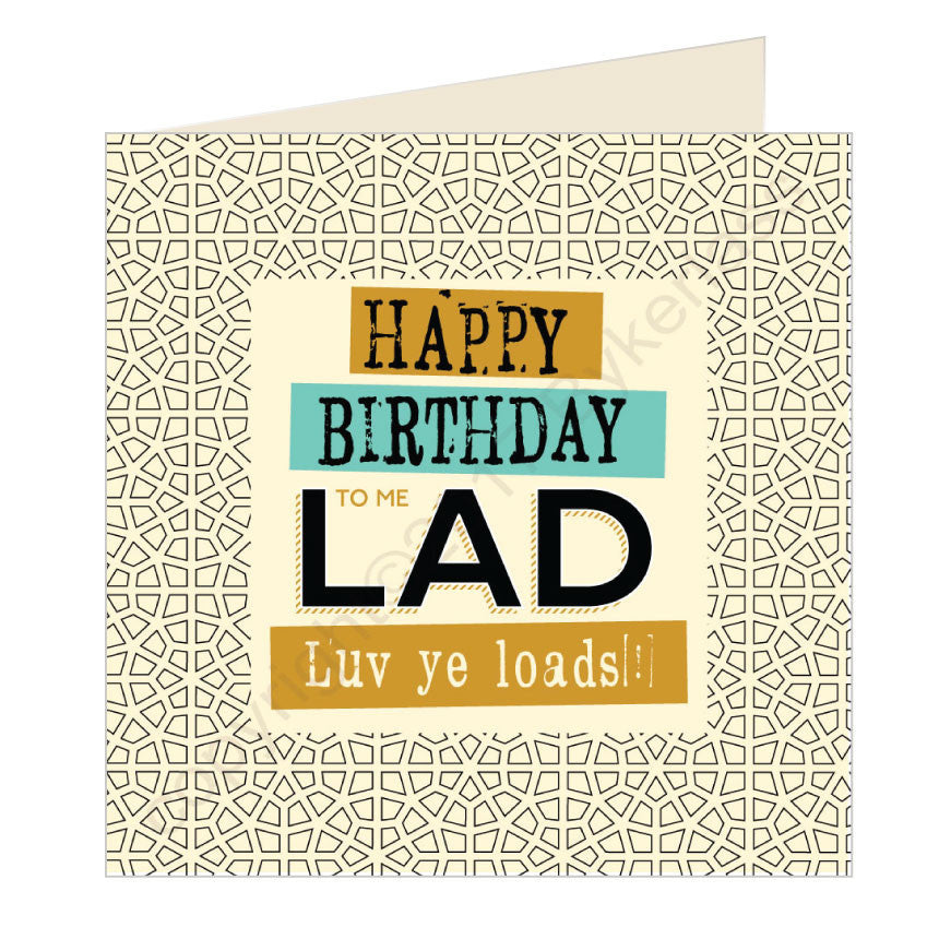 Happy Birthday to me Lad Geordie Card by Wotmalike