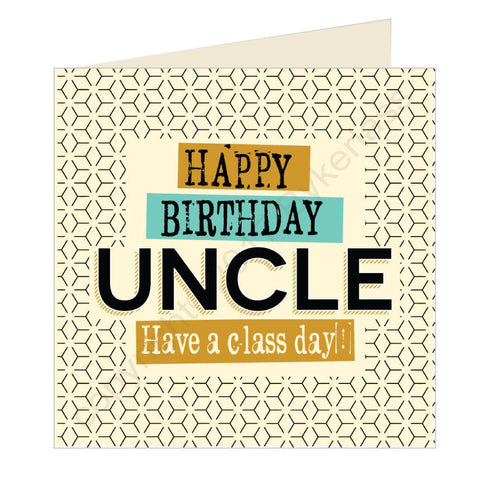 Happy Birthday Uncle Geordie Card (GQ23)