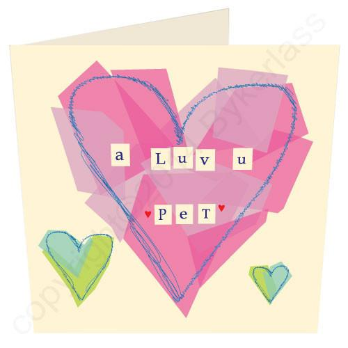 A Luv u Pet (Pink) Geordie Card