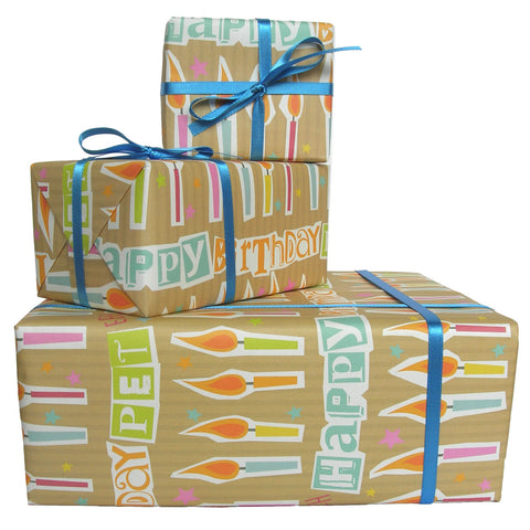 Happy Birthday Pet Geordie Gift Wrap (GW2)