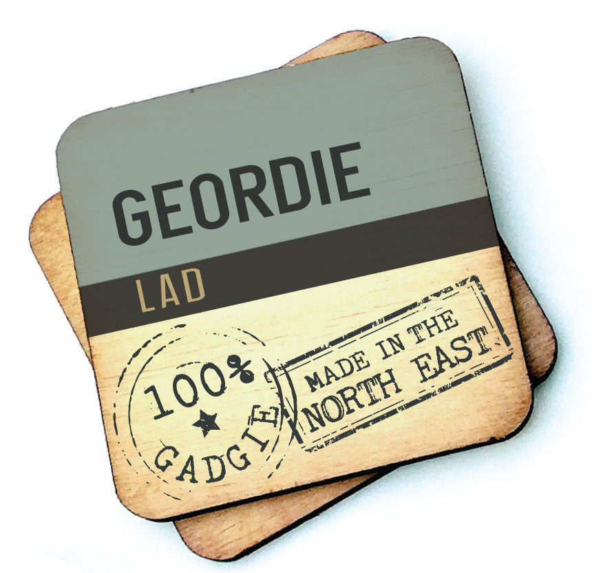 Geordie Lad Geordie Wooden Coasters by Wotmalike