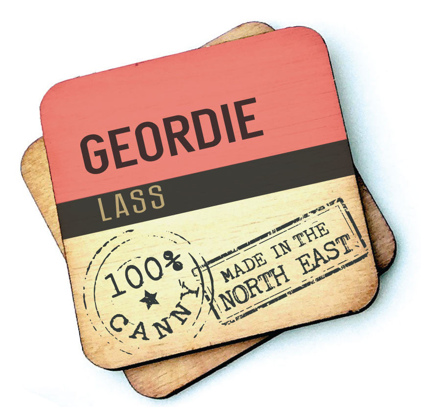 Geordie Lass Geordie Wooden Coasters by Wotmalike