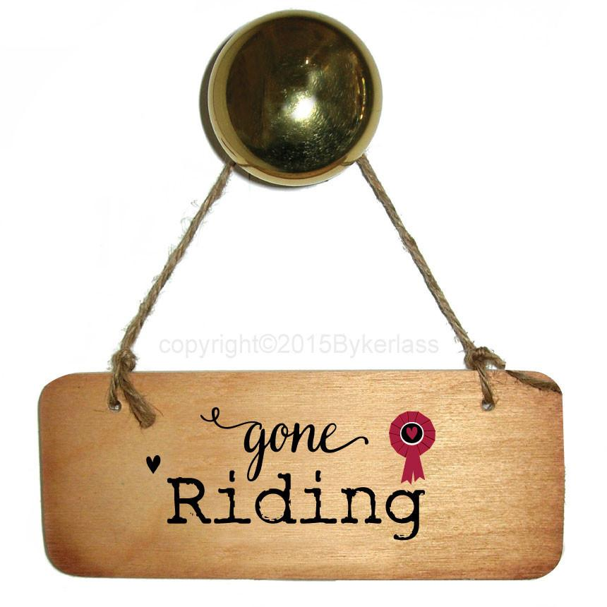 Gone Riding - Horse Rustic Wooden Sign