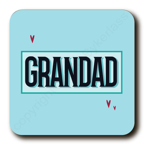 Grandad - Father's Day Gift Cork Backed Coaster -   (MBCGDad)
