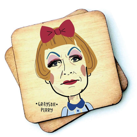 Grayson Perry - Character Wooden Coaster - RWC1