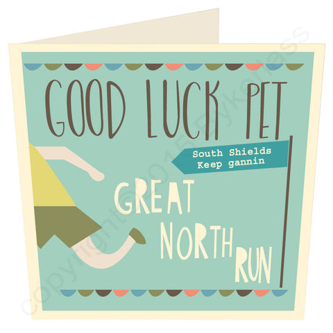 Great North Run Good Luck ...... LARGE Geordie Card (MB13)
