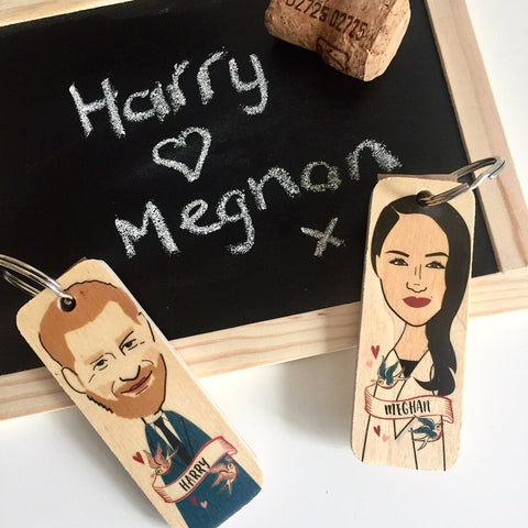 Harry (Prince Harry) Character Wooden Keyring - RWKR1
