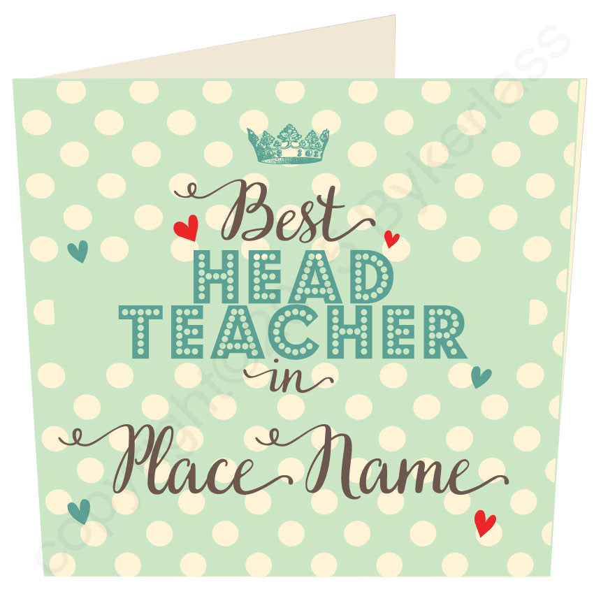 Best Head Teacher card by Wotmalike