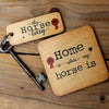 The Horse Lorry - Horse Rustic Wooden Keyring