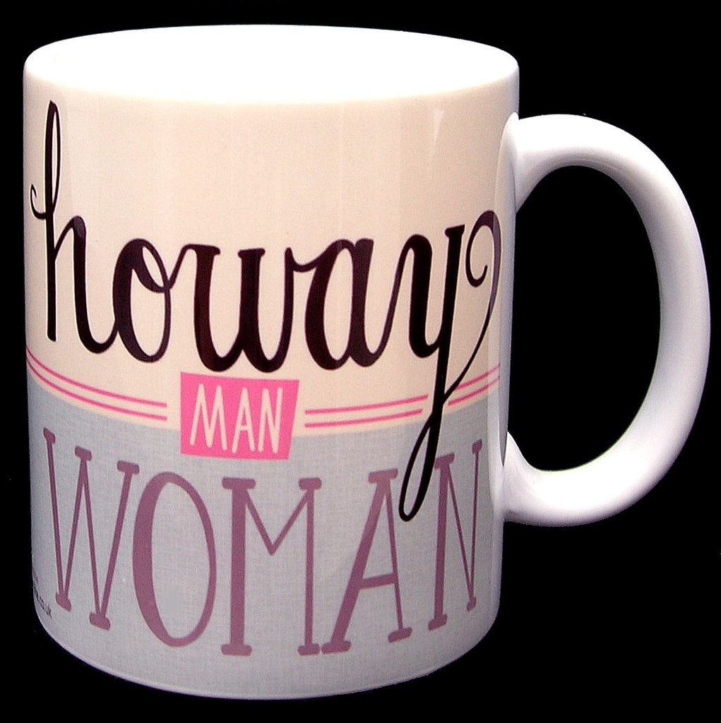 Howay Man Woman North East Speak Geordie Mug