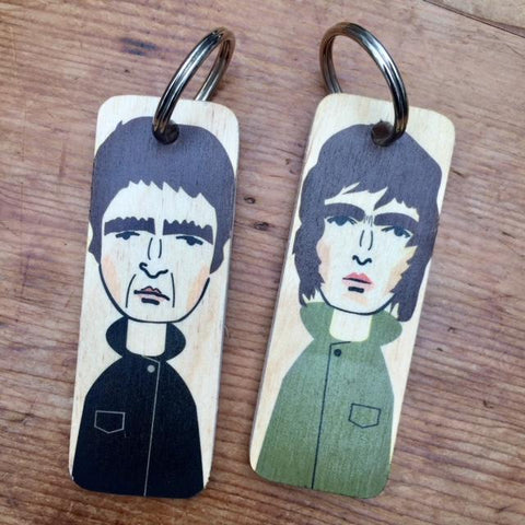 Liam Gallagher Character Wooden Keyring - RWKR1