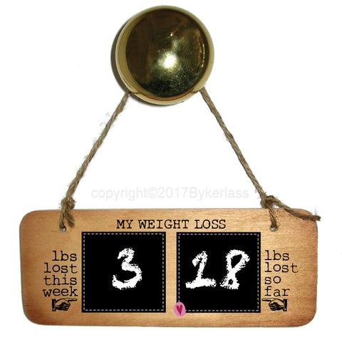 Weight Loss Sign - Weight Loss Countdown Plaque Diet/Health Inspirational Rustic Fab Wooden Sign - RWS1
