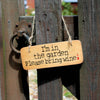 I'm in the Garden Please bring wine Fab Rustic Wooden Sign by Wotmalike