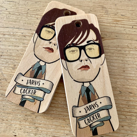 Jarvis Cocker Character Wooden Keyring - RWKR1