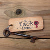 The Tack Room - Horse Rustic Wooden Keyring