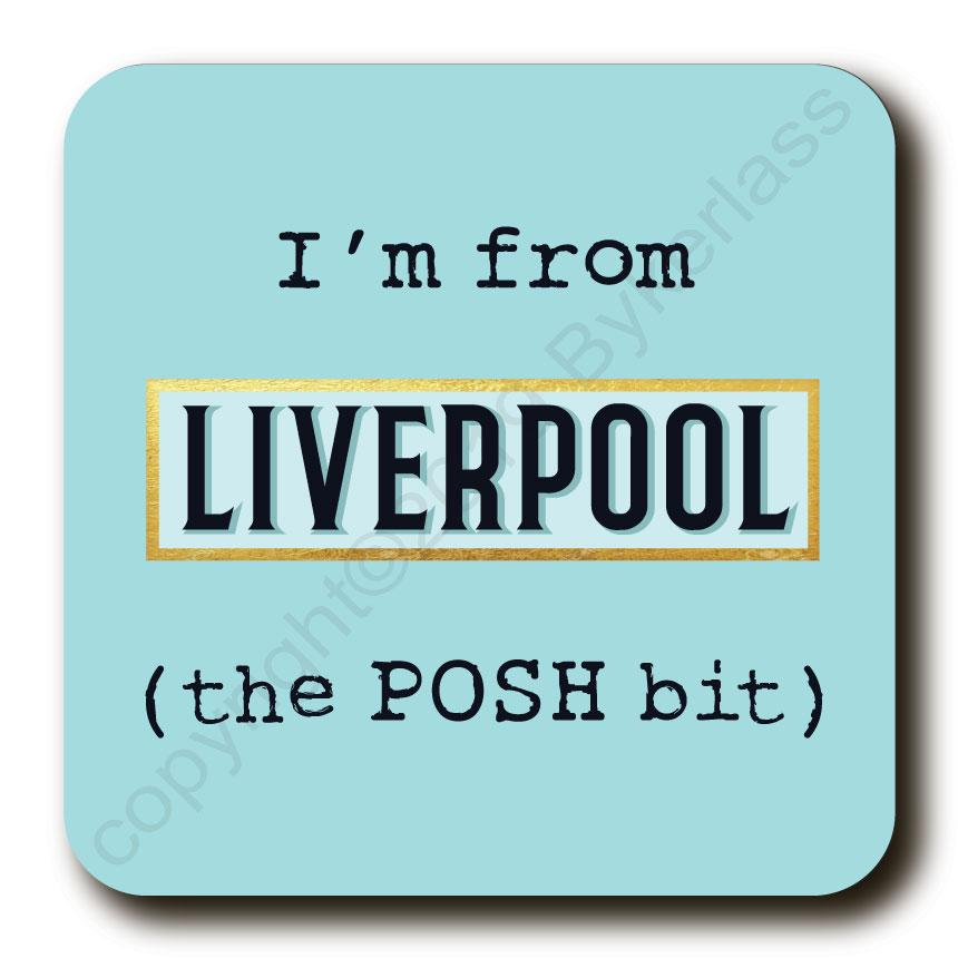 I'm From XXX BLUE The Posh Bit Cork Backed Coasters by Wotmalike